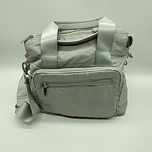 Target purse gray puffer style medium pre owned